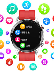 cheap -Smartwatch Digital Modern Style Sporty Genuine Leather 30 m Water Resistant / Waterproof Heart Rate Monitor Bluetooth Digital Casual Outdoor - Black Brown Black / Gray