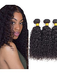 cheap -3 Bundles Hair Weaves Indian Hair Kinky Curly Human Hair Extensions Remy Human Hair 100% Remy Hair Weave Bundles 300 g Natural Color Hair Weaves / Hair Bulk Human Hair Extensions 8-28 inch Natural