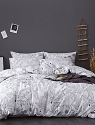 cheap -Leaf Print 3-Piece Duvet Cover Set Hotel Bedding Sets Comforter Cover with Soft Lightweight Microfiber(Include 1 Duvet Cover and 1or 2 Pillowcases)
