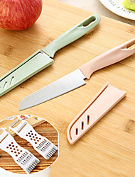cheap -2Pcs Kitchen Stainless Knife For Fruit Vegetable Sushi Ceramic Fruit Knife with 1 Multifunction Slicer Chopper Camping Knives Cooking Tools