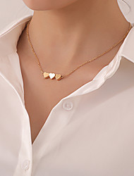 cheap -Women's Pendant Necklace Necklace Classic Heart Simple Classic Trendy Sweet Chrome Gold Silver 46 cm Necklace Jewelry 1pc For Party Evening Prom Street Beach Festival