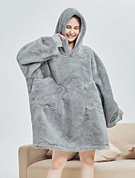 cheap -Adults' Kigurumi Pajamas Bathrobe Unicorn Flying Horse Onesie Pajamas Flannel Fabric Gray Cosplay For Men and Women Animal Sleepwear Cartoon Festival / Holiday Costumes / Bath Robe