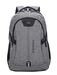 povoljno -Velika zapremnina Poliester Patent-zatvarač ruksak Jedna barva Vanjski Crn / Plava / Sive boje