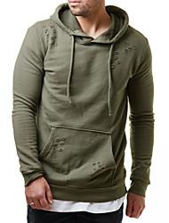 cheap -Men's Pullover Hoodie Sweatshirt Solid Colored Basic Hoodies Sweatshirts  Black Red Army Green