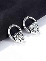 cheap -Hoop Earrings Classic Animal Stylish Stainless Steel Earrings Jewelry Silver For Gift Date Festival 1 Pair