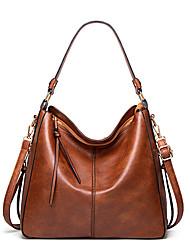 cheap -Women's Bags Polyester Top Handle Bag Hobo Bag Daily Office & Career Handbags Black Red Brown Gray