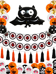 cheap -Party Balloons 49 pcs Pumpkin Spiders Bat Party Supplies Latex Balloons Pull Flag Boys and Girls Party Decoration 10-12inch for Party Favors Supplies or Home Decoration