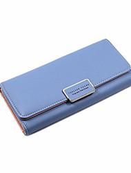 cheap -Women's Zipper PU Leather Wallet Black / Blue / Blushing Pink