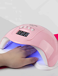 cheap -Professional Nail Dryer 48W Professional Nail Dryer Nail Art Tools Accessories 4 Timer Setting Smart Sensor with 24pcs LEDs USB for Fast Drying Fingernails and Toenail Fast Shipping