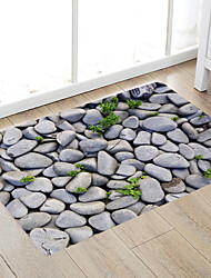 cheap -Pebbles And Tenacious Grass Modern Bath Mats Nonwoven / Memory Foam Novelty Bathroom