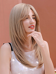 cheap -Synthetic Wig Curly Body Wave Middle Part Side Part Wig Very Long Light Blonde Synthetic Hair 24 inch Women's Cosplay Party Fashion Blonde BLONDE UNICORN / African American Wig