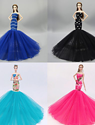 cheap -Doll accessories Doll Dress Princess Wedding Tulle Lace Polyester For 11.5 Inch Doll Handmade Toy for Girl's Birthday Gifts  / Kids