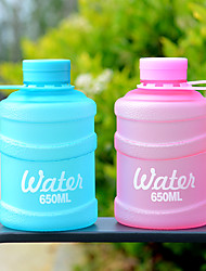 cheap -650ml Large Capacity Drink Water Bottle Plastic Portable Children Kettle Outdoor Picnic Bicycle Mini Bucket Cute bottles