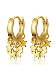 cheap -Women's Drop Earrings Classic Star Stylish Platinum Plated Earrings Jewelry Golden / Silver For Wedding Party Gift Daily Work 1 Pair