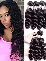 cheap -4 Bundles Hair Weaves Indian Hair Loose Wave Human Hair Extensions Remy Human Hair 100% Remy Hair Weave Bundles 400 g Natural Color Hair Weaves / Hair Bulk Human Hair Extensions 8-28 inch Natural