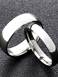 cheap -Ring Classic Style Silver King & Queen Titanium Steel Friendship Simple / Couple's