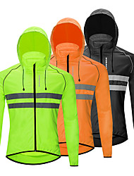 cheap -WOSAWE Men's Women's Cycling Jersey Cycling Jacket Winter Bike Jacket Tracksuit Windbreaker Windproof Breathable Quick Dry Sports Stripes Solid Color Black / Orange / Green Mountain Bike MTB Clothing