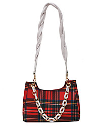 cheap -Women's Bags Polyester Top Handle Bag Chain Handbags Daily Office & Career White Blue Red