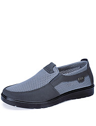cheap -Men's Loafers & Slip-Ons Casual Preppy Daily Outdoor Mesh Non-slipping Wear Proof Black Gray Coffee Summer Fall