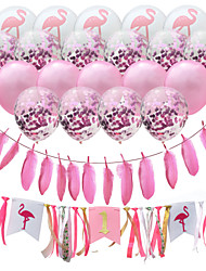 cheap -Party Balloons 20+2 pcs Flamingo Hawaii Party Supplies Latex Balloons Pull Flag Boys and Girls Party Wedding Decoration 12inch for Party Favors Supplies or Home Decoration