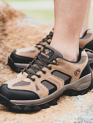 cheap -Men's Hiking Shoes Wearable Comfortable Hiking Outdoor Exercise Walking Spring, Fall, Winter, Summer Black Army Green Grey Khaki