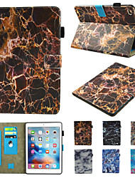 cheap -Case For Apple iPad Mini 3 2 1  iPad Mini 4  iPad Mini 5 360 Rotation  Shockproof  Magnetic Full Body Cases Marble PU Leather  TPU