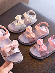 cheap -Girls' Sandals Comfort PU Little Kids(4-7ys) / Big Kids(7years +) Dusty Rose / Pink / Silver Summer / Fall / Rubber