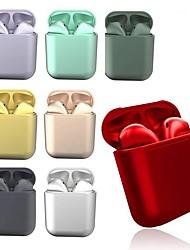 Недорогие -litbest i12 tws металлические macarons беспроводная регулировка громкости наушников с зарядным устройством голосовое управление беспроводная связь Bluetooth 5.0 эй siri всплывающее окно