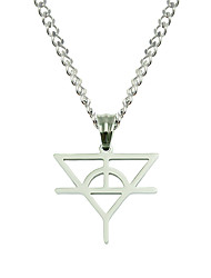 cheap -Men's Pendant Necklace Necklace Long Necklace Long Lucky Simple Classic Trendy Fashion Stainless Steel Silver 60 cm Necklace Jewelry 1pc For New Baby Sport Street Birthday Party Festival
