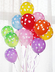 cheap -Party Balloons 100 pcs Polka Dot Party Supplies Latex Balloons Boys and Girls Multi Color Party Wedding 12inch for Party Favors Supplies or Home Decoration