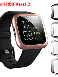 cheap -Screen Protector Compatible Fitbit Versa 2 Case Frosted PC Ultra-Thin Slim Tempered Glass Protective Case All-Around Full Cover Bumper Shell for Fitbit Versa 2 Smart Watch