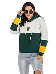 cheap -Women's Pullover Sweatshirt Solid Colored Basic Hoodies Sweatshirts  Green