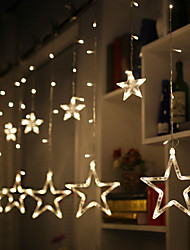 cheap -2.5M LED Star String Lights Stardust Curtain Lights Christmas Decoration Fairy Light Bedroom Outdoor Tree Christmas New Year Wedding Valentine's Day Gift without Battery