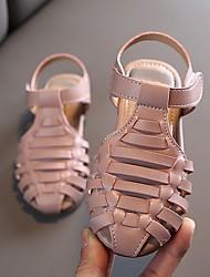 halpa -Tyttöjen Comfort PU Sandaalit Pikkulapset (4-7 vuotta) Musta / Pinkki / Beesi Kesä