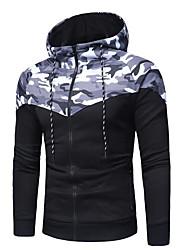 povoljno -Muškarci Hoodie Color block kamuflaža Ležerne prilike Aktivan Hoodies majica Djetelina Sive boje
