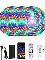 cheap -MASHANG Bright RGB LED Strip Lights Waterproof 15M Music Sync Smart LED Tiktok Lights 900LEDs 2835 Color Changing with 24 keys Remote Bluetooth Controller for Home Bedroom TV Back Lights DIY Deco