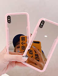 cheap -iPhone11Pro Max Silicone Mirror Mobile Phone Case XS Max Can be Used For Makeup Mirror Female 6 7 8Plus SE 2020 Protective Case