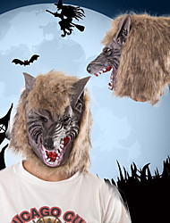 cheap -Halloween Party Toys Masks Costume Hooded Masks 2 pcs Thrilling Werewolf Masquerade Vinyl Adults Trick or Treat Halloween Party Favors Supplies