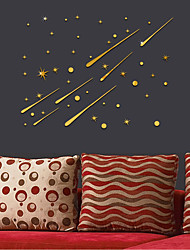 cheap -3D Meteor Stars Universe Shooting Shiny Star Wall Sticker Reflective Wall Decals for Home Decoration Mirrors