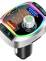 cheap -BC63 Bluetooth FM Transmitter for Car 7 Colors  QC3.0& USB-C PD Quick Charger Wireless Bluetooth Car FM Radio Adapter MP3 MusicTF Card USB Drive