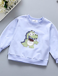 cheap -Baby Boys' Basic Solid Colored Long Sleeve Hoodie & Sweatshirt Blue