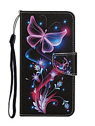 cheap -Case For Huawei Y5P Y6P Y7 2019 Y5 2018 Enjoy 7S Honor 8X 9A 9X Lite Pro 20 10i Wallet Card Holder with Stand Full Body Cases Butterfly PU Leather