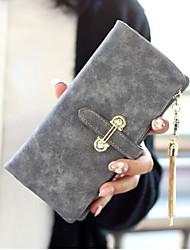 cheap -Women's Bags PU Leather Wallet Tassel Zipper for Daily Black / Blue / Army Green / Fuchsia / Royal Blue / Light Gray / Brown