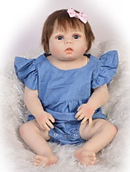 cheap -Reborn Baby Dolls Clothes Reborn Doll Accesories Cotton Fabric for 22-24 Inch Reborn Doll Not Include Reborn Doll Classic Theme Soft Pure Handmade Girls' 2 pcs