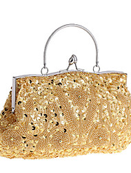 cheap -Women's Bags Polyester Evening Bag Sequin Wedding Bags Party Daily Black Purple Champagne Gold