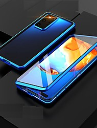 cheap -Magnetic Case For Samsung Galaxy S21 Plus/S21 Ultra/S21 360-degree Double Sided Metal Tempered Glass Cases Camera Lens Protective Case for Samsung Galaxy M31 S20 Ultra Note 20