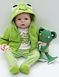 cheap -Reborn Baby Dolls Clothes Reborn Doll Accesories Cotton Fabric for 22-24 Inch Reborn Doll Not Include Reborn Doll Frog Soft Pure Handmade Boys' 4 pcs