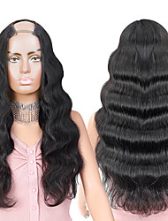 cheap -Remy Human Hair Wig Long Body Wave U Part Natural New Arrival Capless Brazilian Hair Women's Natural Black #1B 8 inch 10 inch 12 inch