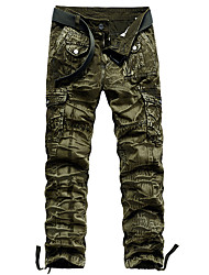 cheap -Men's Hiking Pants Hiking Cargo Pants Outdoor Standard Fit Stretchy Multi-Pocket Cotton Pants / Trousers Dark Grey Jungle camouflage Black Khaki Dark Green Hunting Climbing Camping / Hiking / Caving