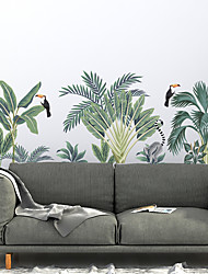 cheap -Green Plant Wall Stickers Decorative Wall Stickers, PVC Home Decoration Wall Decal Wall Decoration / Removable